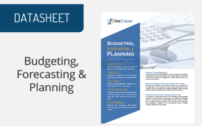 OneStream – Budgeting, Forecasting & Planning