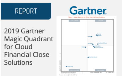 2019 Gartner Magic Quadrant for Cloud Financial Close Solutions