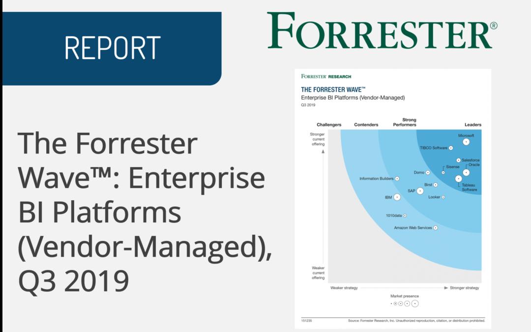 The Forrester Wave™: Enterprise BI Platforms (Vendor-Managed), Q3 2019