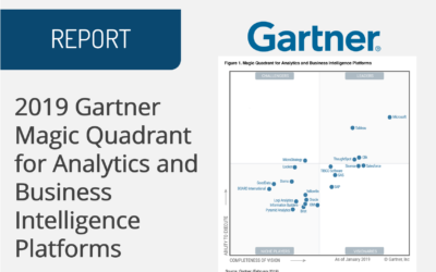2019 Gartner Magic Quadrant for Analytics and Business Intelligence Platforms