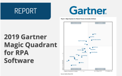 2019 Gartner Magic Quadrant for RPA Software