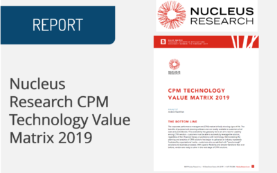 Nucleus Research CPM Technology Value Matrix 2019