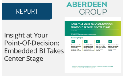 Insight at Your Point-Of-Decision: Embedded BI Takes Center Stage